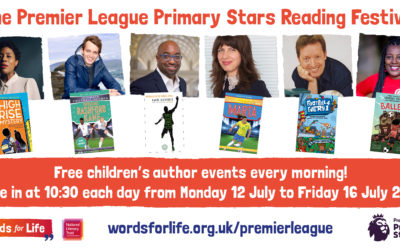 Stellar team of children's authors to take part in the Premier League Primary Stars Reading Festival