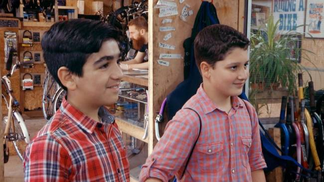 Ahmad (left) and Adel, Syrian refugees living in Bristol who appear in the CBBC programme My Life: New Boys In Town. Image: BBC/Drummer TV/PA Wire
