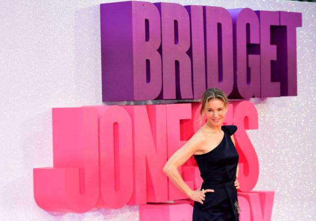 Renee Zellweger attending the world premiere of Bridget Jones's Baby at the Odeon cinema, Leicester Square, London. Image: Ian West/PA Wire