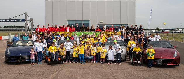 The event is held with Ferrari and two charity partners, Rays of Sunshine and BEN