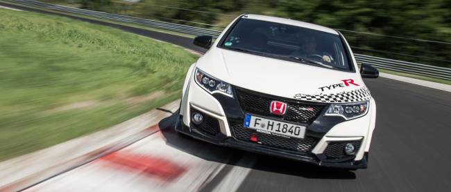 Yours truly behind the wheel of the Honda Civic Type R