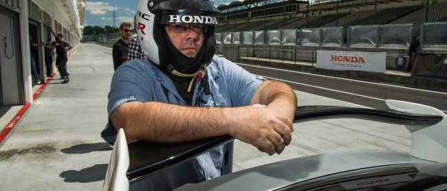 Honda's people, a WTCC winner and the world's media were watching me. No pressure...