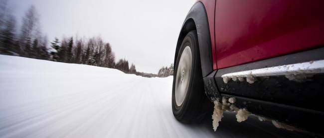 Studded tyres kept us on what we assumed was tarmac.