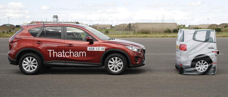 The Mazda CX-5 was brought to a safe halt in this demonstration, with no human interaction.