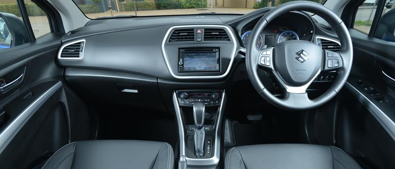 The S-Cross interior is unexciting, but well built.