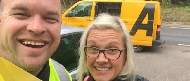 Breaking down shouldn't lead to a breakdown. Show your boss who's boss with a roadside selfie.