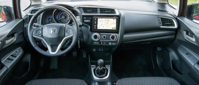 The Honda Jazz Sport interior.