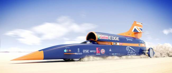 Bloodhound SSC will be there, but there won't be any test drives opportunities...