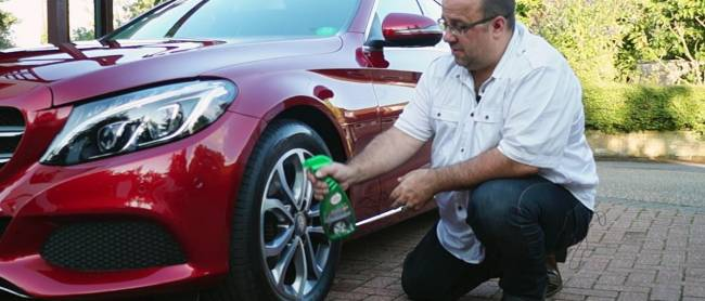 Tyre dressing restores that showroom look.