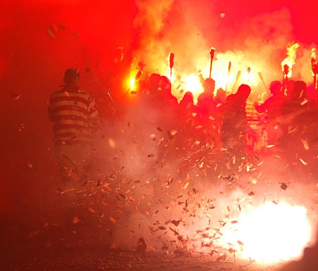 Having a blast at the Lewes riots, erm, bonfire night | Image: James Draven