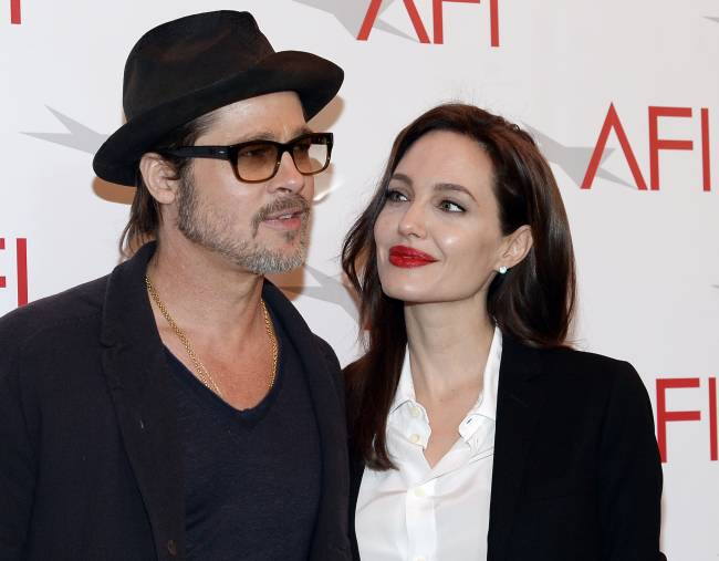 "Brad Pitt and Angelina Jolie ""hippy"" parenting   Image: Reuters/Kevork Djansezian"