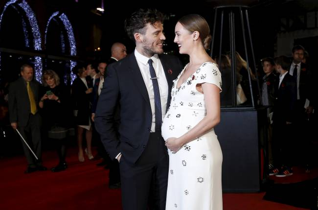 Claflin shared his happy news on the red carpet | Image: Reuters - Luke McGreggor