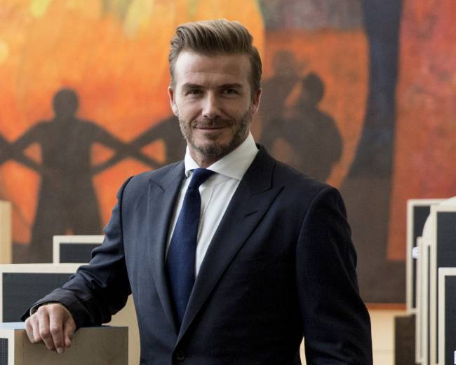 David Beckham talks world issues | Image: Reuters pictures: Andrew Kelly