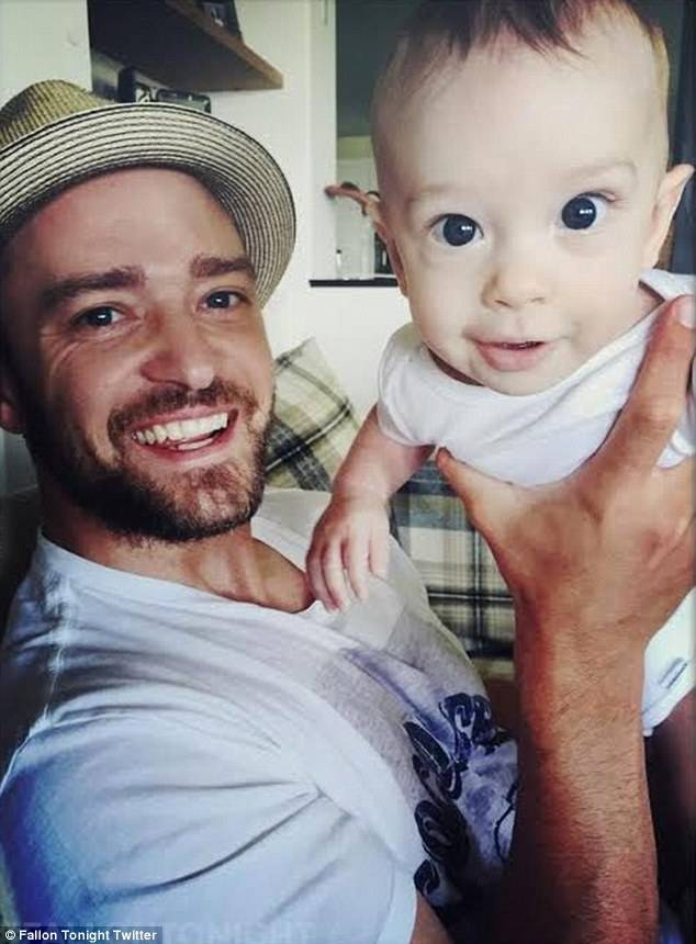 Timberlake shares baby joy | Image: Twitter/Fallon Tonight