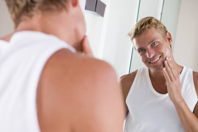 With every application of lotion, Karl got one step closer to realising his dreams of being Bradley Cooper's chin double.