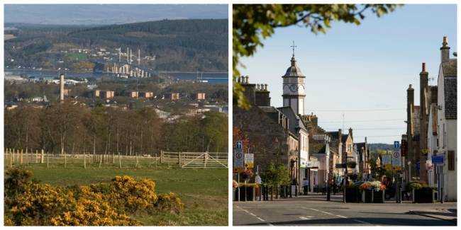 Kessock Bridge and Dingwall @ VisitScotland