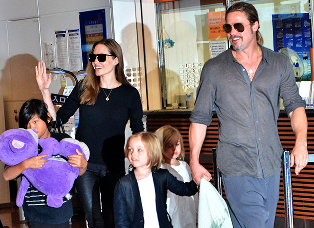 Celebrity progeny have evolved with UV-filtered retinas, so fortunately do not need to wear sunglasses indoors   Image: Aflo/Rex