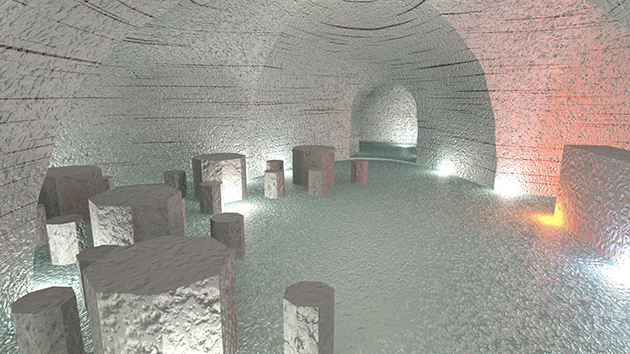 An actual scene inside the glacier... nah, not really. It's a picture done on a computer of what it will look like | Image: Discover the World