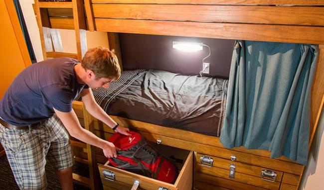 Bunks in a dorm room | Image: Haka Lodge