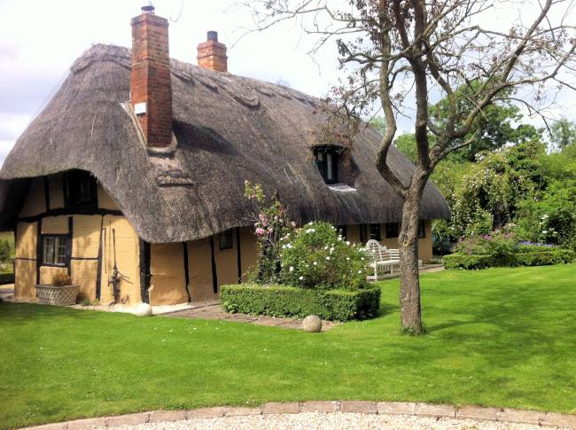 Thatched roofs are eggs-ellent. Eggs. Because it's for an Easter getaway, yeah?