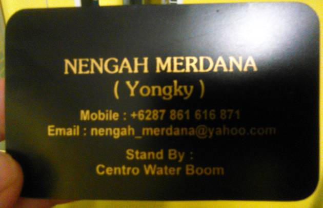 He gave me a business card, just in case I wanted a lift back the other way!