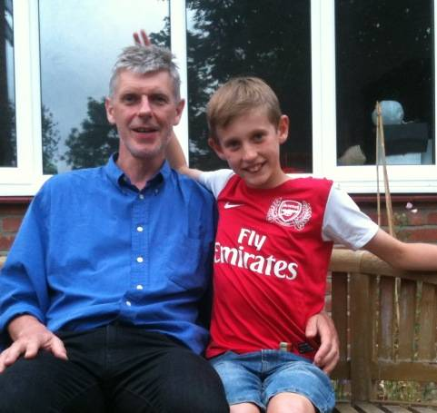 Our Dad reviewer, James Marsh with his son Oscar | Image: James Marsh