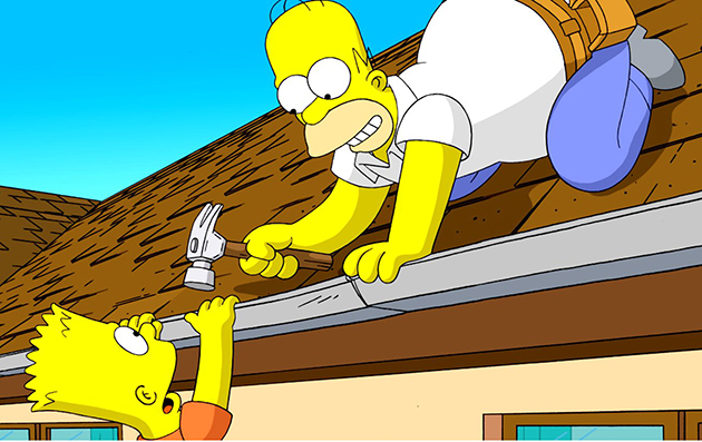 Homer gets confused by the homonym 'nails,' with hilarious consequences   Image: 20thC.Fox/Everett/Rex