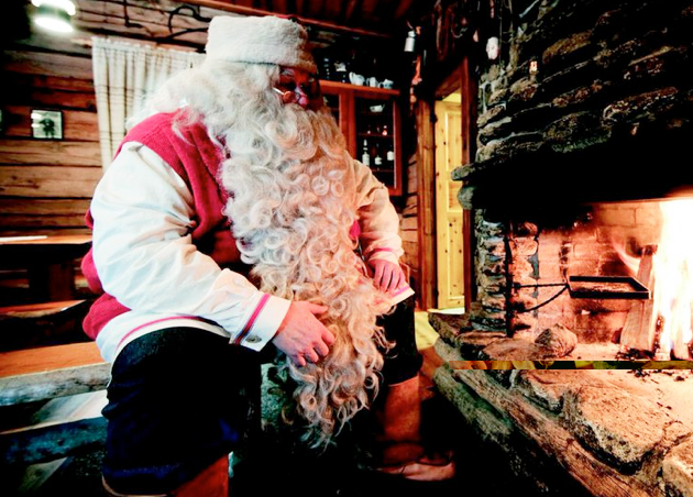 Even Mrs Santa couldn't tell where his beard ended and his chest hair began | Image: Visit Finland