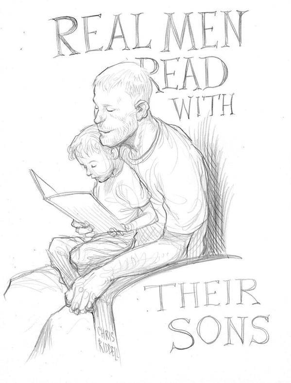 Riddell promoting father and son reading time for libraries