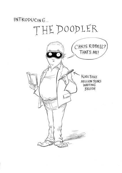 The Doodler alias Children's Laureate, Chris Riddell