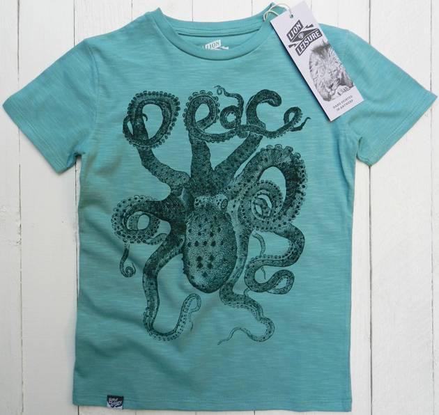 Octopus Design In Aqua