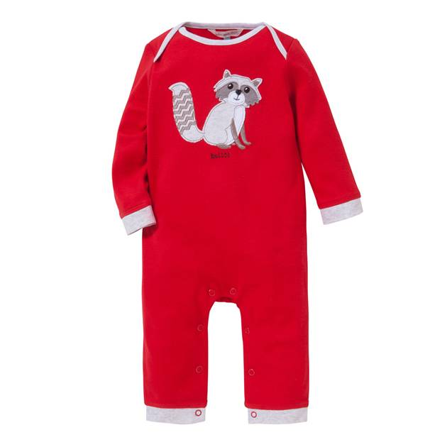 Red Racoon Romper