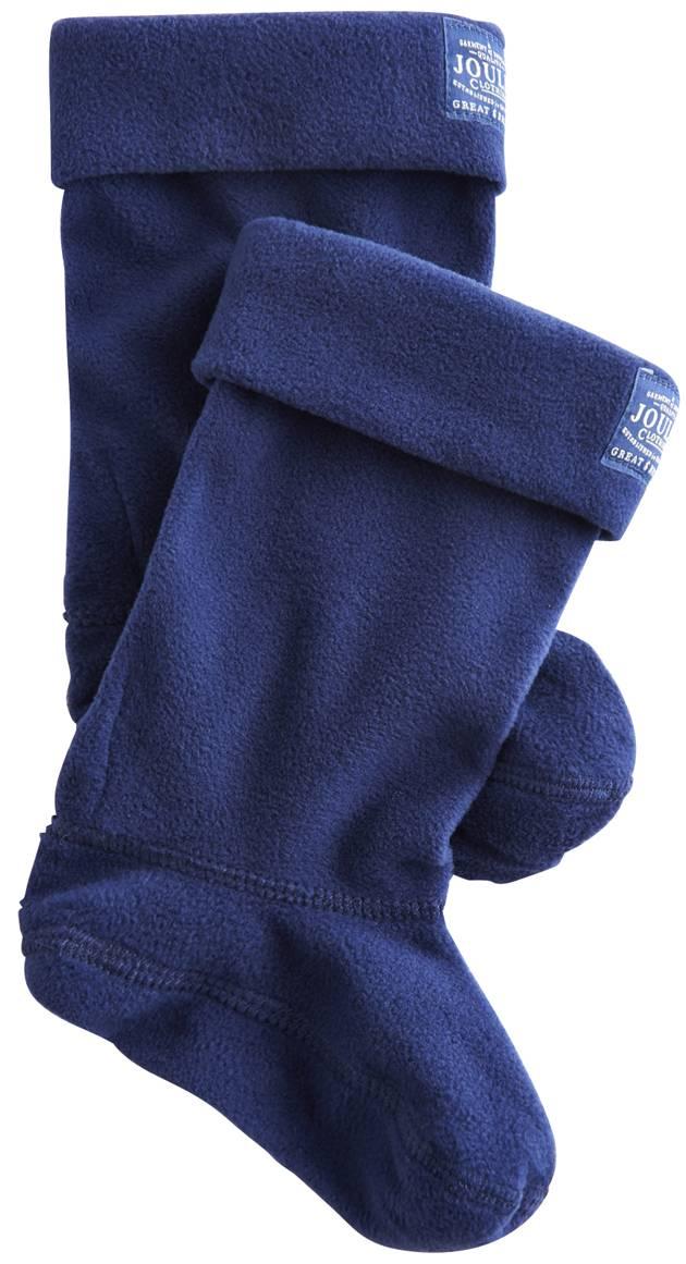 Fleece Welli Socks In Blue Gem
