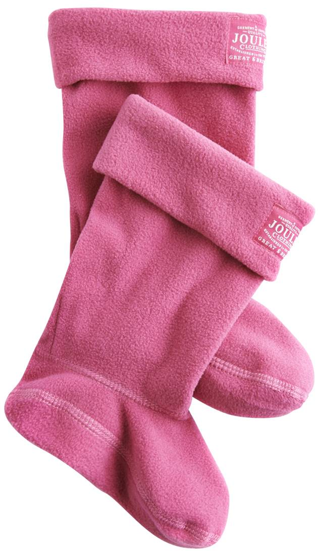 Fleece Welli Socks In Hot Pink