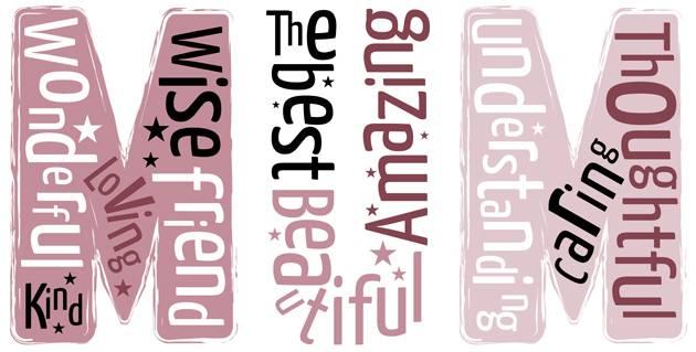 MUM Typography Print