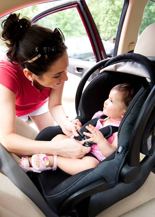 Baby in a rear facing car seat