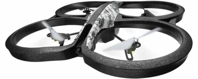 The AR.Drone is controlled via an app on a smartphone or tablet