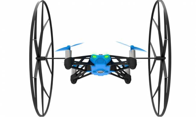 With those wheels, this drone can fly up your walls and along your ceiling