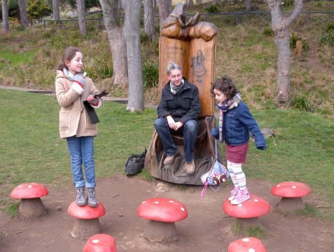 Maya and Olivia go in search of Wonderland   Image: David Atkinson
