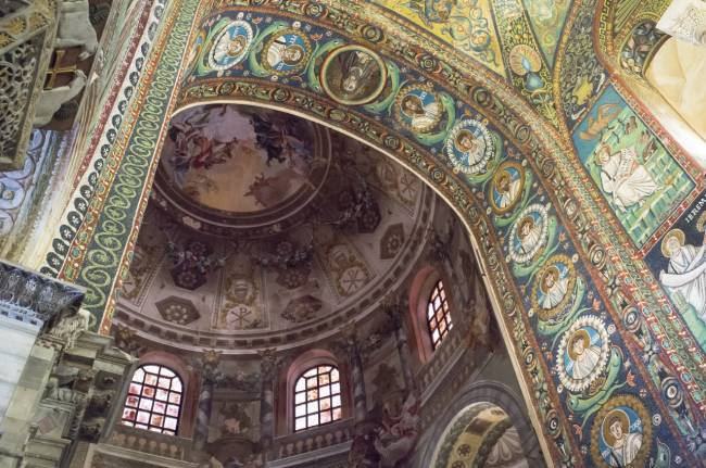 Byzantine mosaics at Basilica San Vitale | Image: Asgeir Pedersen.