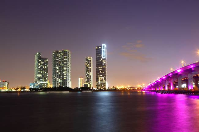The bright lights of Biscayne Bay