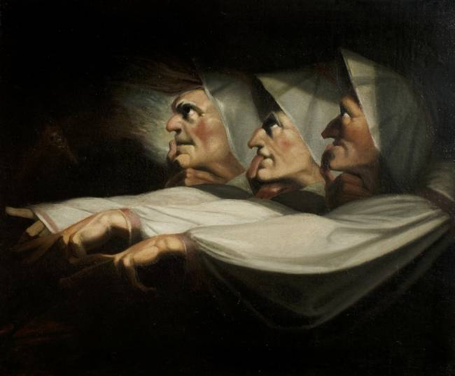 Macbeth, Act 1, Scene 3, The Weird Sisters by Henry Fuseli