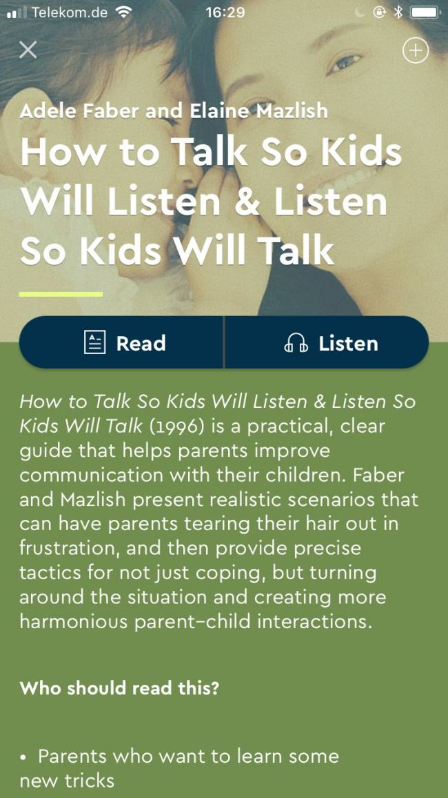 How To Talk So Kids Will Listen.