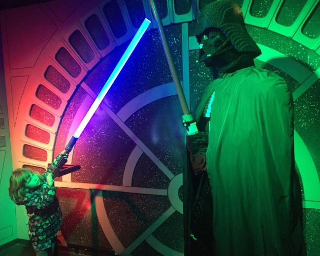 Mary takes on Vader