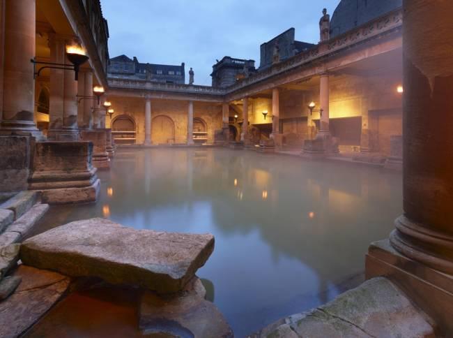 Soak up the atmos at The Roman Baths