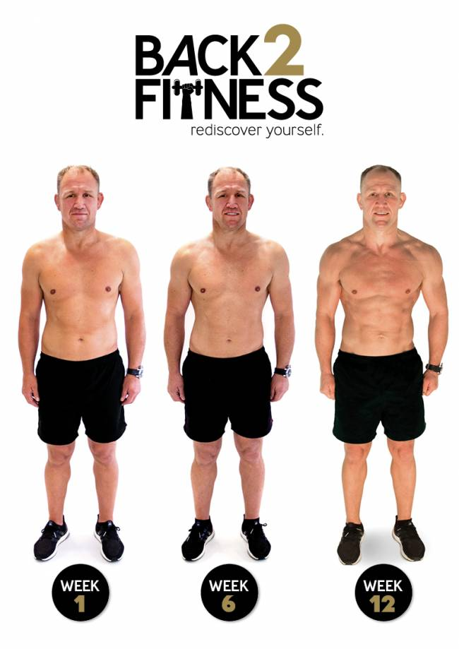 Neil changed his body shape with a 12-week fitness plan.