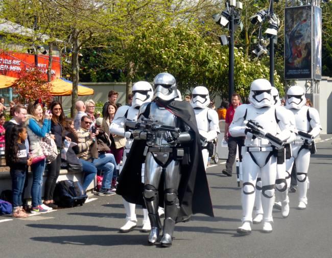 Stormtroopers in Walt Disney Studios. Image: Lauren Jarvis.