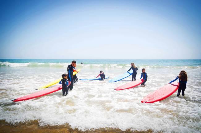 Surf's up at Paradis Plage