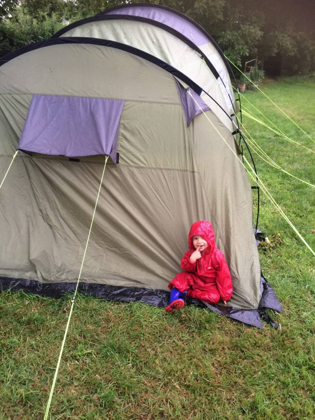 Camping in the rain. Image: Kate Lewis.
