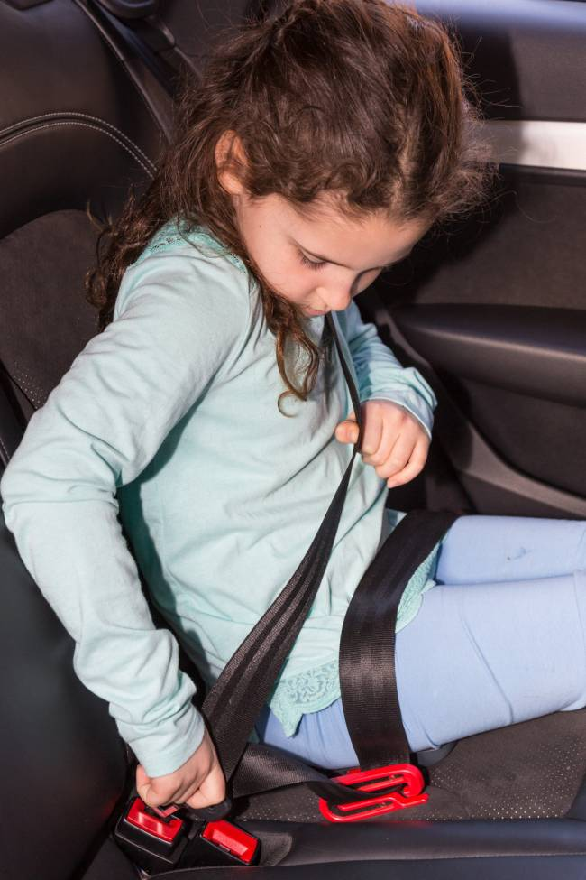 Make sure any child travelling in your car is safe.
